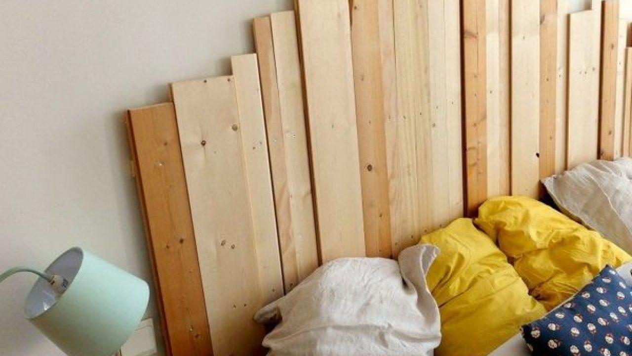Fabriquer Tete De Lit Planche Bois comment faire une tête de lit en bois ?