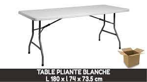 table pliante rectangulaire choix